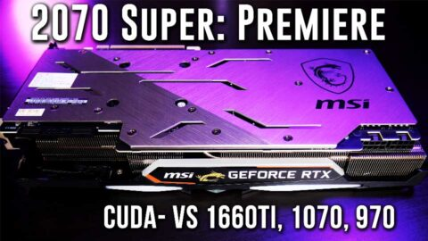 RTX 2070 Super, GTX 1660Ti crushing Premiere- Techspin benchmarks