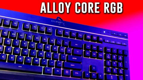 CRAZY GOOD- HyperX Alloy Core RGB Gaming Keyboard is our #1
