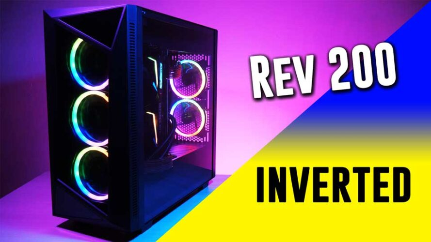 INVERT YOUR BUILD- Sharkoon Rev200 is a pretty unusual case